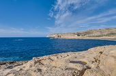 stock photo of gozo  - Azure Window natural arch featuring a table - JPG