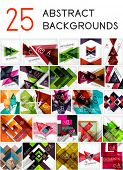 Mega set of paper geometric backgrounds - 25 design templates. For business background | numbered ba