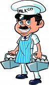 pic of milkman  - Cartoon Milkman delivering milk - JPG