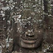 Faces of Avalokitesvara in Bayon Temple, Cambodia