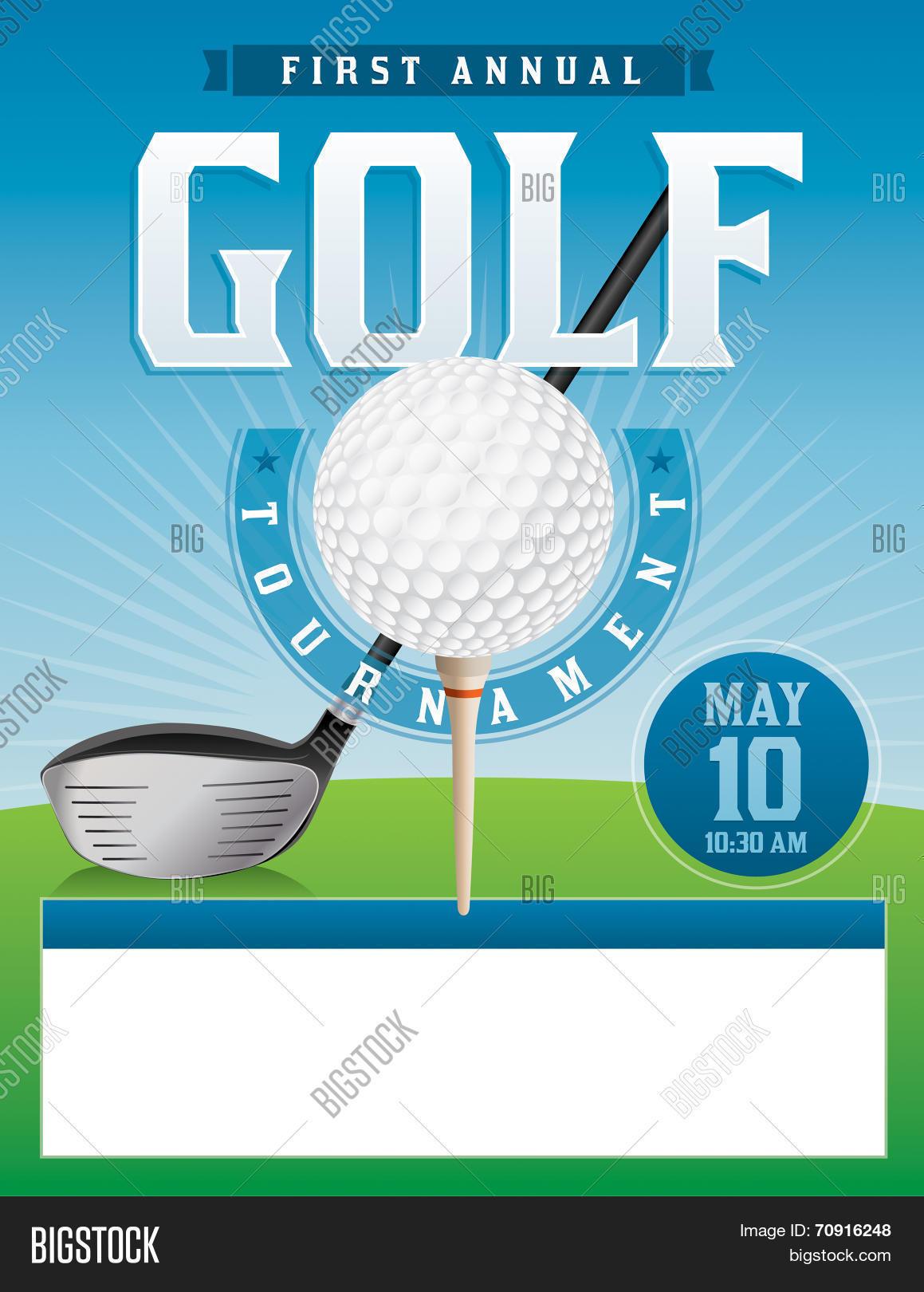 golf tournament illustration vector photo bigstock. Black Bedroom Furniture Sets. Home Design Ideas