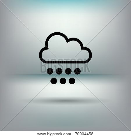 Cloud icon with snowflakes