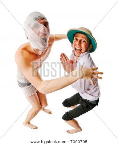Mummy Catching Archeologist