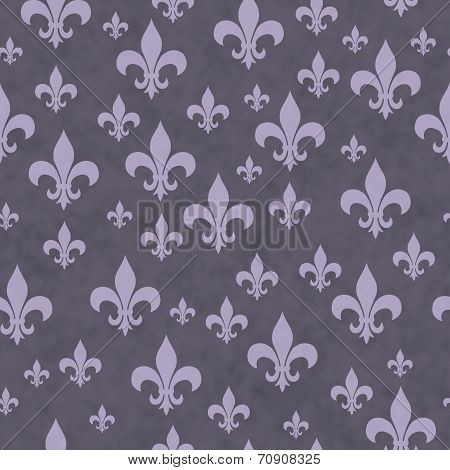 Purple Fleur-de-lis Pattern Repeat Background