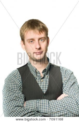 Portrait Of Confident Businessman Isolated