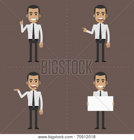 Happy manager showing gestures