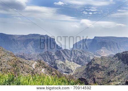Landscape Jebel Akhdar Oman