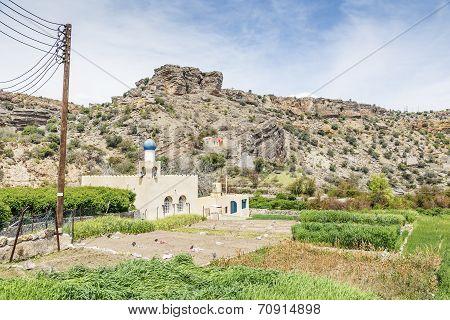 Mosque And Agriculture On Saiq Plateau