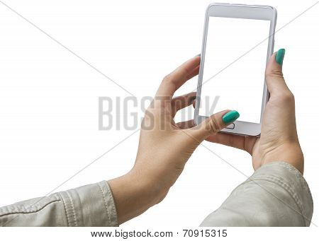 Photographing Selfie With Mobile Phone