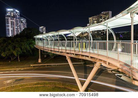 Broadbeach pedestrian bridge from Convention Centre to Jupiters Casino