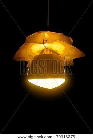 Lantern On Black Background