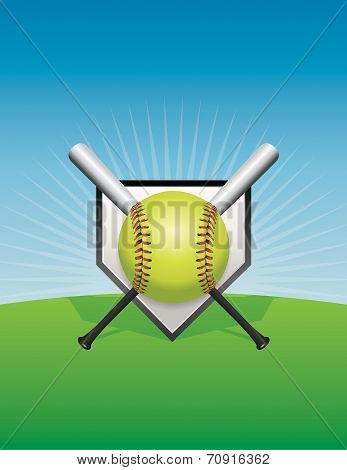 Softball Background Illustration