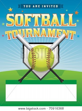 Softball Tournament Illustration