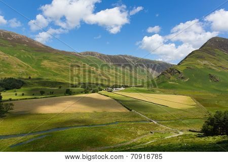 Mountains and fells by Buttermere Lake District England uk
