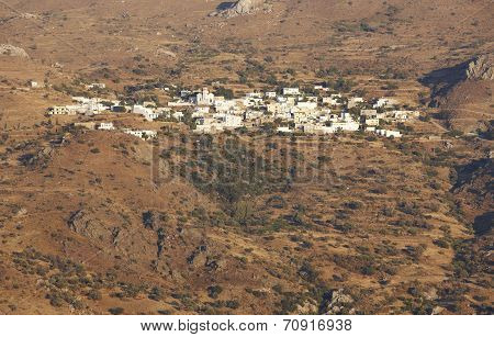 Traditional Cretan Village In The Mountain. Crete. Greece
