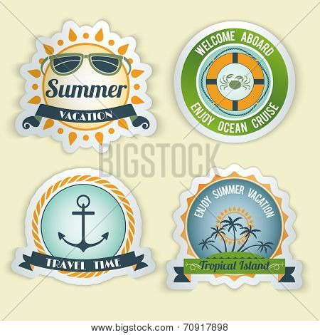 Summer sea emblems