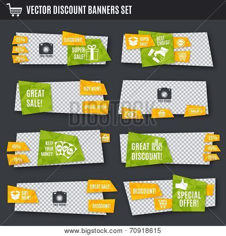 Discount banners set