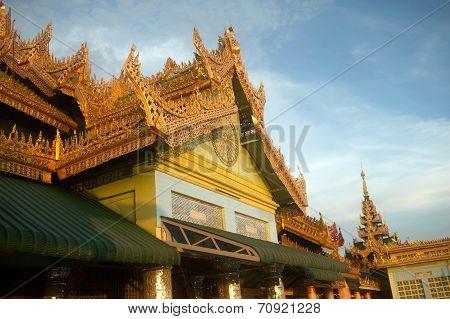 The Pavilion On Soon U Pone Nya Shin Temple,Myanmar.