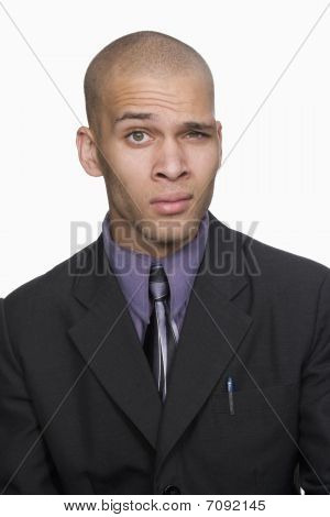 Portrait Of Young Businessman. Isolated