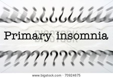 Primary Insomnia