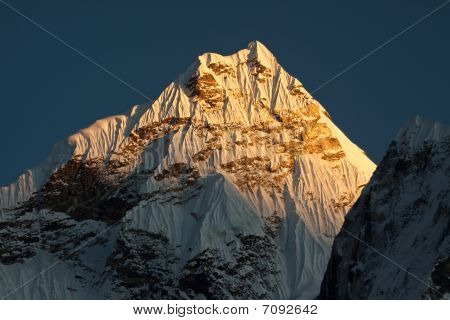 Ama Dablam Peak at sunset