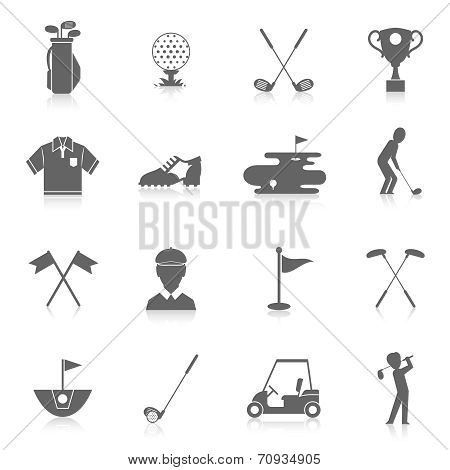 Golf icons set