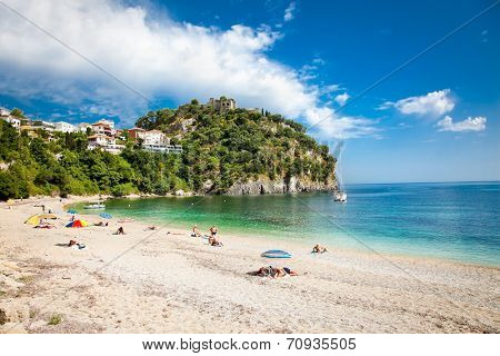 Beautiful Valtos beach near Parga town of Syvota area in Greece.