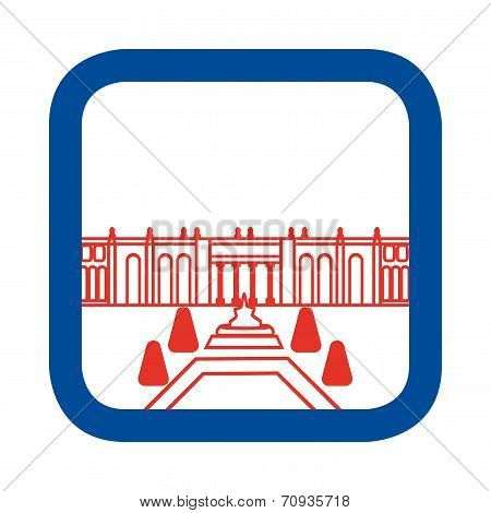 Vector illustration of Versailles Palace