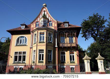 SALZWEDEL, GERMANY - AUGUST 27, 2014: Municipal public library. Freydanck´sche Villa, Jugendstil (art nouveau)