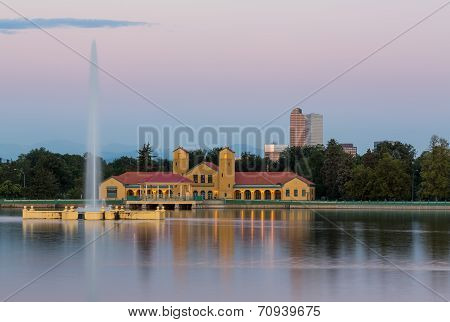 City Park In Denver With Boathouse Ferril Lake