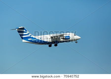 Ellinair Greek Aerospace Ellin Air Sx-emi Aircraft Preparing For Take-off From The Runway Of Interna