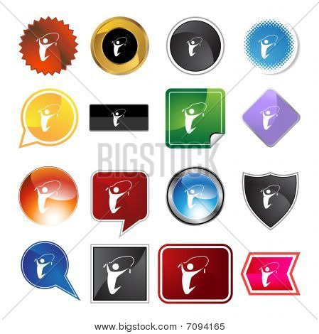 Jumping Rope Variety Icon Set