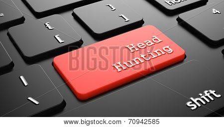 Headhunting on Red Keyboard Button.