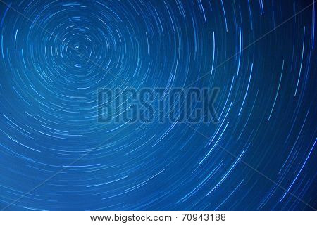 Star trails movement at night