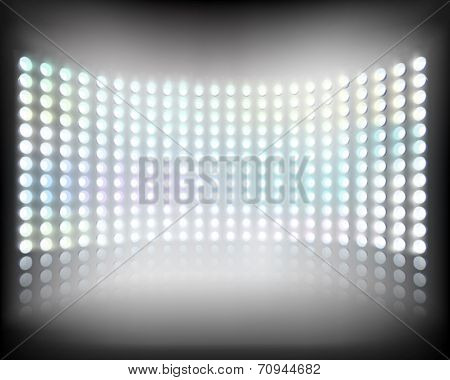 Large multimedia screen. Vector illustration.