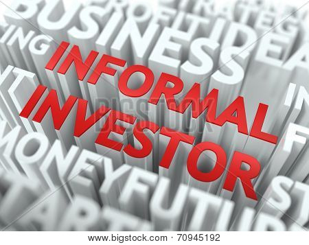 Informal Investor - Red Wordcloud Concept.