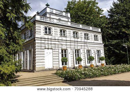 White Pavilion In Lazienki, Warsaw