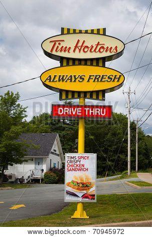 Tim Hortons Sign