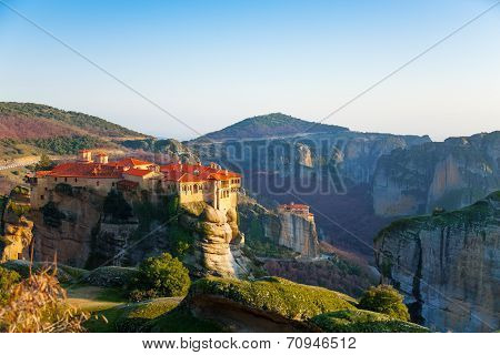 Holy Monastery of Great Meteoron on a day