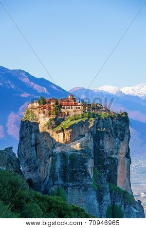 View on the Monastery of Holy Trinity, Greece