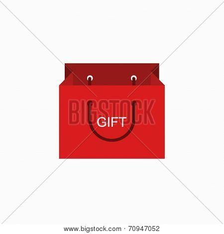 vector modern shopping gift icon on white