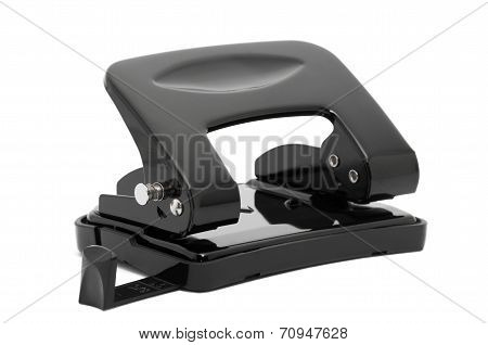black puncher on a white background
