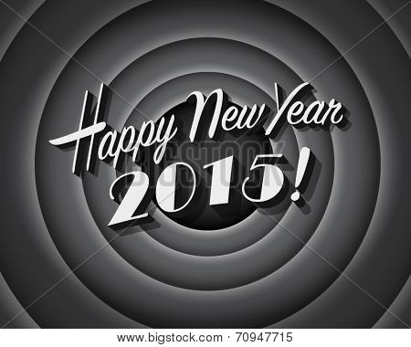 Movie still screen - Happy New Year 2015 - Editable Vector EPS10