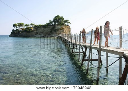 Bridge To Agios Sostis Island In Laganas