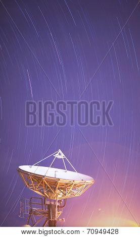 Satellite Antenna under the startrail