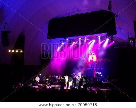Rebel Souljahz Sings On Stage At Mayjah Rayjah Concert