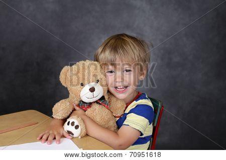Child In School Classroom