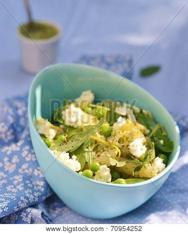 Pasta And Green Peas Salad