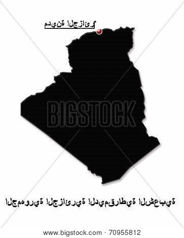 Map Of Algeria In Arabic