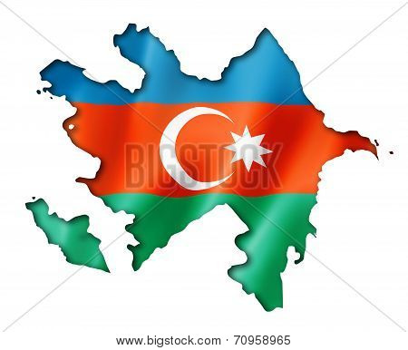 Azerbaijani Flag Map